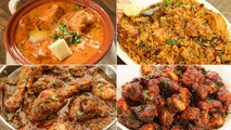 4 Best Chicken Recipes For Lunch/Dinner | Butter Chicken, Chicken Biryani, Chicken Korma, Chicken 65