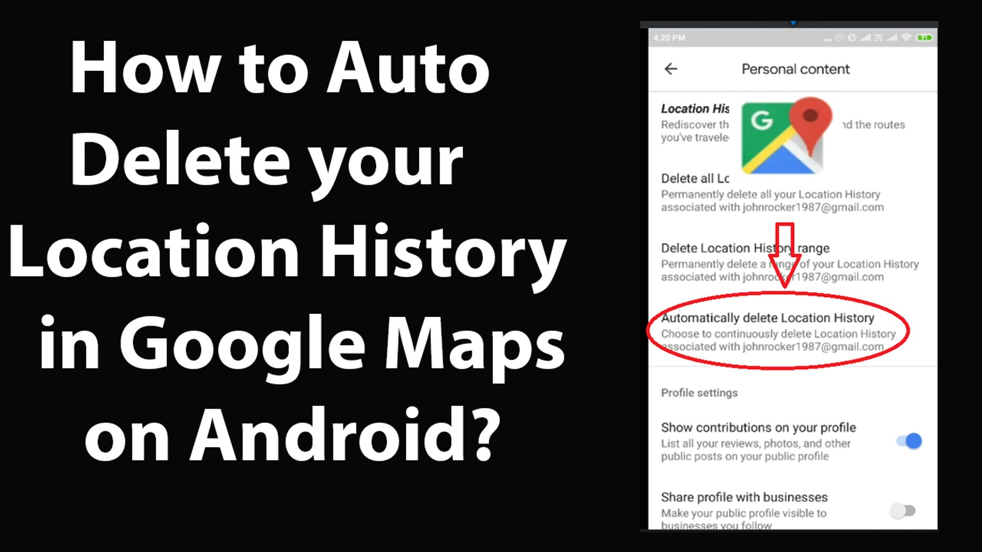 How to Auto Delete your Location History in Google Maps on Android? - video  dailymotion