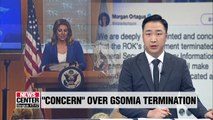 U.S. State Dept. spokesperson echoes disappointment and concern over GSOMIA termination