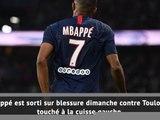 PSG - Mbappé absent plusieurs semaines