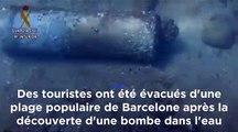 Barcelone : une plage évacuée après la découverte d'un vieil engin explosif