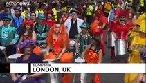 Revellers enjoy sunshine at hot Notting Hill Carnival
