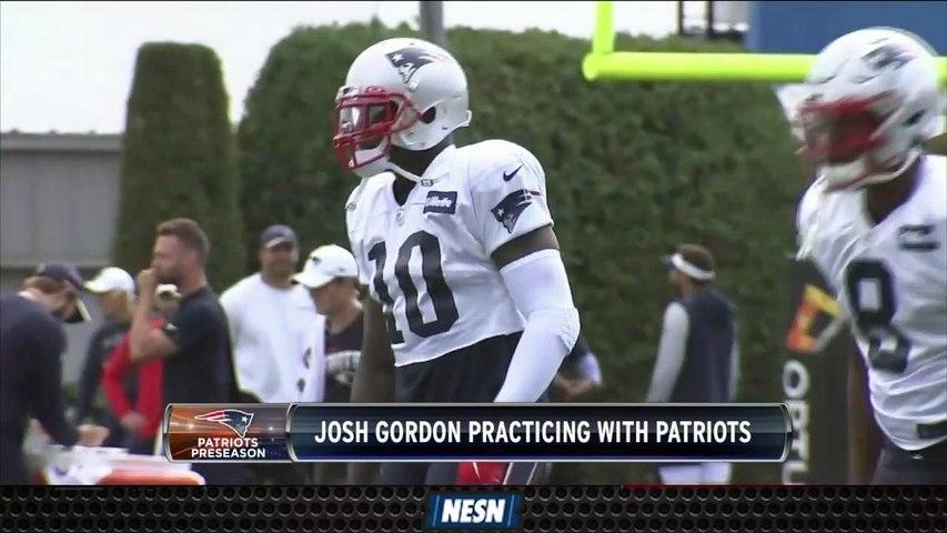 Josh Gordon Returns To Practice As Patriots Prepare For Giants