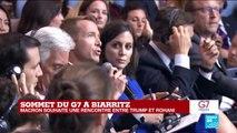 """G7 à Biarritz : """"j'ai informé Trump de la visite du ministre iranien"""" a déclaré Emmanuel Macron"""