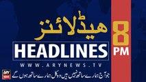 ARYNews Headlines | Kashmir dispute fueling threat of nuclear war b/w Pak, India | 8PM | 26 AUGUST 2019