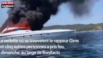 Maître Gims : le yacht du rappeur prend feu en mer au large de la Corse (vidéo)