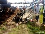 Les tristes images de l'accident qui a coûté la vie à 6 personnes