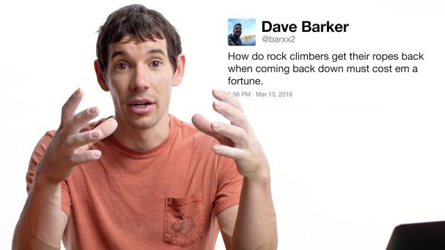 Alex Honnold Answers Climbing Questions From Twitter
