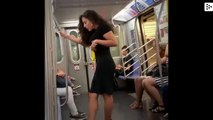 The less discret way to take selfies in the New York subway