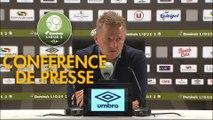 Conférence de presse EA Guingamp - Valenciennes FC (0-1) : Patrice LAIR (EAG) - Olivier GUEGAN (VAFC) - 2019/2020