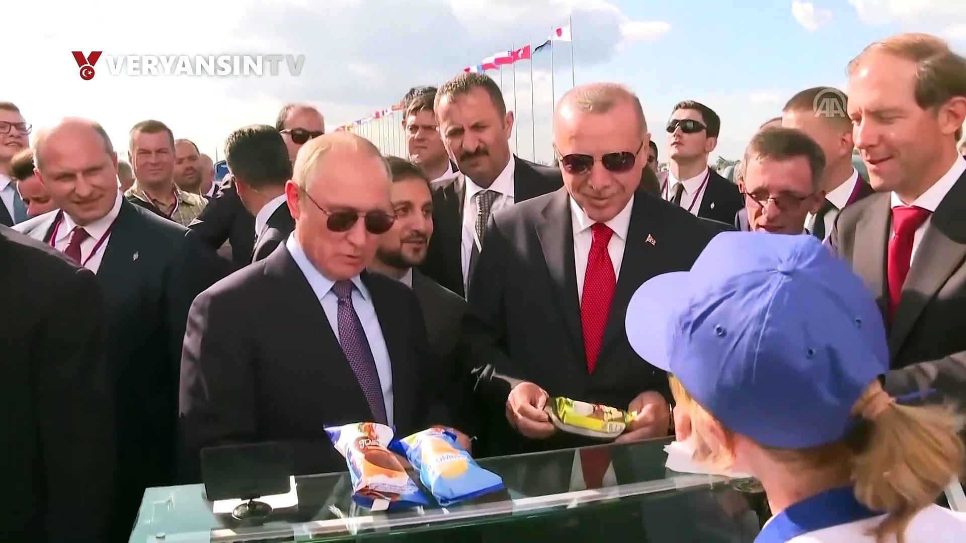 Vladimir Putin, Erdoğan ve beraberindeki Türk heyetine dondurma ısmarladı