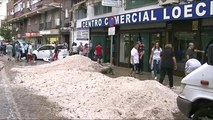 Severe storm in Madrid brings hail and flash flooding