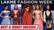 Best And Worst Dressed | Kangana Ranaut, Kareena, Malaika, Disha, Ananya | Lakme Fashion Week 2019