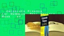 Corporate Finance for Dummies  Best Sellers Rank : #4