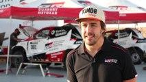Fernando Alonso prueba el Toyota Hilux del Dakar