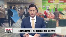 S. Korea's consumer sentiment index for August falls to lowest level since Jan. 2017