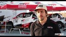 Dakar Rally 2020: Formula 1 Champion Fernando Alonso testing his Toyota Hilux in Namibia Desert