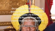 Amazonie : le président Macron a rencontré le chef Raoni
