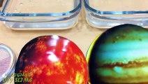 Jupiter vs Saturn ! Mixing Makeup Eyeshadow into Clear Slime ! Special Series #97 Satisfying Slime