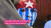 Las protestas violentas aumentan en Indonesia