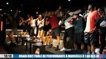 Usain Bolt parle de performance à Marseille à un an des JO