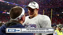 Rob Gronkowski Leaves Door Open For Comeback, Endorses CBD