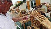 VIDÉO. Claude Picoux, maquettiste de Selles-sur-Cher passionné par les inventions de Léonard de Vinci