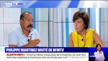 """Philippe Martinez (CGT): """"Travailler moins, c'est le sens de l'Histoire"""""""