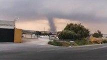 Video captures tornado hitting near Malaga in Spain