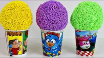 Play Foam Ice Cream Surprise Toys Mônica Toy Galinha Pintadinha Super Wings Learn Colors KidsToy