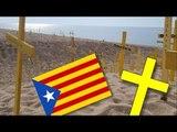 Si vous partez en vacances en Espagne, vous risquez de tomber sur ces croix jaunes
