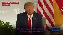 Angel Merkel Snorts As Donald Trump Says He Has 'German In My Blood'