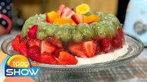 Receta: ¡Nada como un postre saludable! Esta Gelatina con frutas es deliciosa y sana. | Todo Un Show