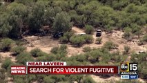 Search on for violent fugitive