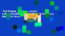 Full E-book  Merriam Webster s Word-for-Word Spanish-English Dictionary (Word for Word
