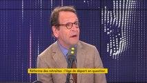 """Réforme des retraites : """"Ce n'est pas un référendum qui est en voie de préparation, mais une consultation, un peu dans l'esprit du grand débat national"""", affirme Gilles Le Gendre"""