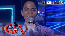 Fafa Juls recites a poem for his best friend   It's Showtime Mr Q and A