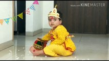 Cute 18 months baby as Little Krishna | Special Sri Krishna janmastami | Ayush as Little Krishna!