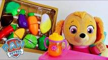 Skye Paw Patrol Learn Velcro Vegetables Bebe Skye da Patrulha Canina e Vegetais
