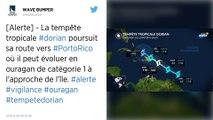 La tempête Dorian se renforce, et se dirige vers Porto Rico et la République dominicaine