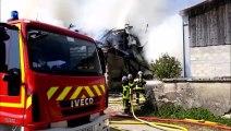 Incendie d'une ferme de Malpas