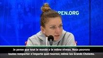 """US Open - Halep : """"On peut toutes remporter des tournois, même des Grands Chelems"""""""