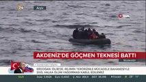 Akdeniz'de göçmen teknesi battı: 65 kişi kurtarıldı, 40 kayıp var