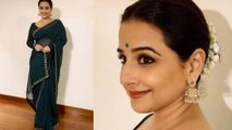 Vidya Balan looks beautiful in green Saree & Gajra at Mission Mangal event;Watch video | Boldsky