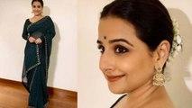 Vidya Balan looks beautiful in green Saree & Gajra at Mission Mangal event;Watch video   Boldsky