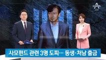 사모펀드 관련 3명 도피…조국 동생·처남 출국금지