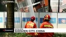 En Chine, un bâtiment s'effondre mais, ne fait aucune victime