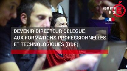 Devenir Directeur Délégué aux Formations Professionnelles et Technologiques