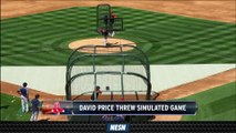 David Price Throws Simulated Game