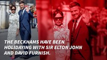 The Beckhams Vacation With Elton John